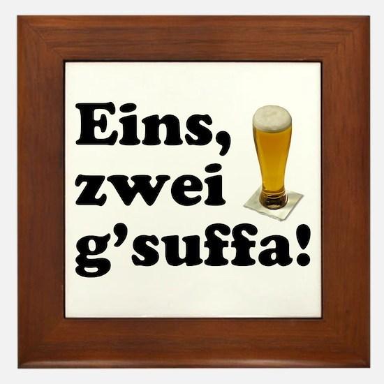 Drink Up Oktoberfest Framed Tile