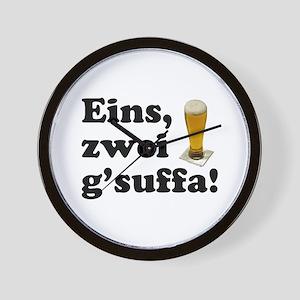 Drink Up Oktoberfest Wall Clock