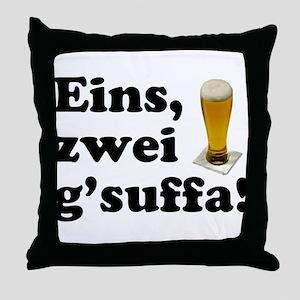 Drink Up Oktoberfest Throw Pillow