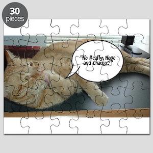 Orange Tabby Cat Political Humor Puzzle