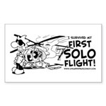 First Solo Flight (Helicopter) Sticker (Rectangle)
