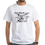 First Solo Flight (Helicopter) White T-Shirt