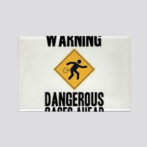 Warning Dangerous Gases Ahead Rectangle Magnet