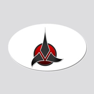 Klingon Empire Signia 3000 20x12 Oval Wall Decal