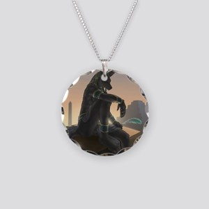 Best Seller Anubis Necklace Circle Charm