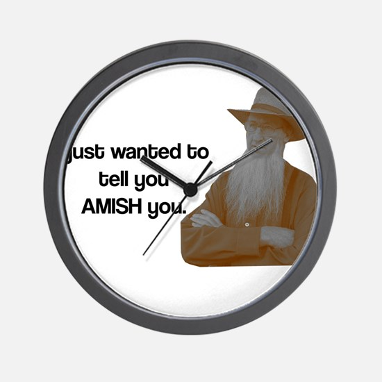AMISH You Wall Clock