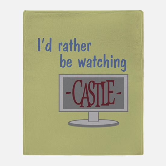 Rather Be Watching Castle Throw Blanket