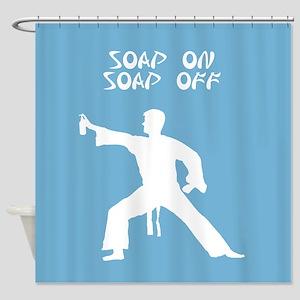 Karate Kid parody funny shower curtain