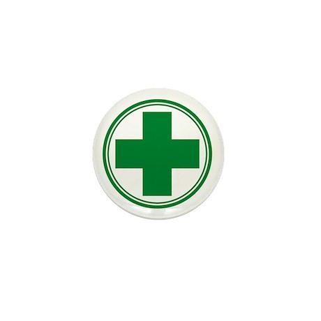 Green Cross Mini Button (10 pack)