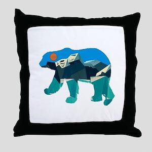 THE POLAR PATH Throw Pillow