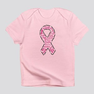 Pink Ribbon Words Infant T-Shirt