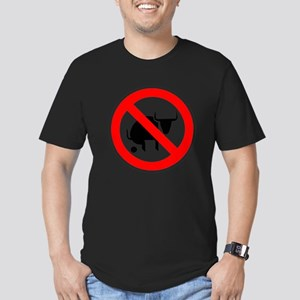 No Bullshit Men's Fitted T-Shirt (dark)