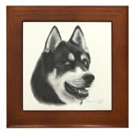 Siberian Husky Framed Tile