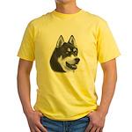 Siberian Husky Yellow T-Shirt