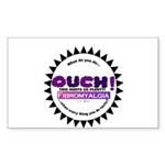 Fibromyalgia Hurts Sticker (Rectangle)