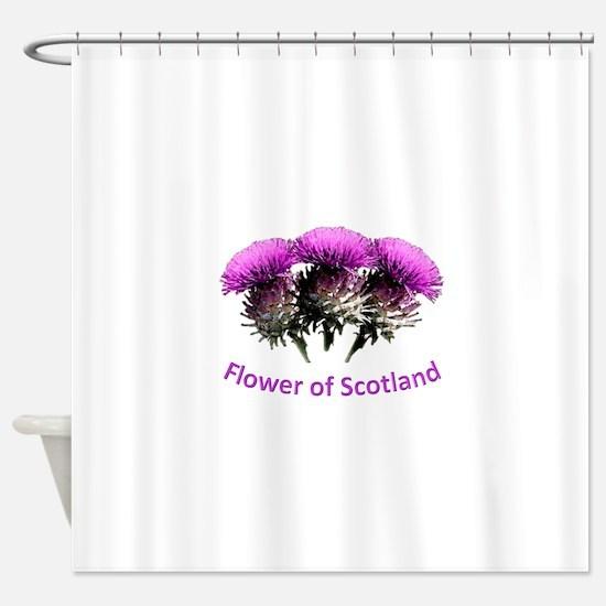 Flower of Scotland Shower Curtain