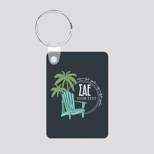 Sigma Alpha Epsilon Beach Aluminum Photo Keychain
