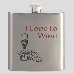 I love to wine Flask