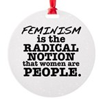 Feminism Radical Notion Round Ornament