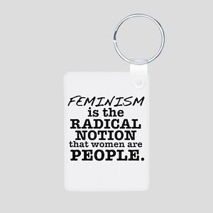 Feminism Radical Notion Aluminum Photo Keychain