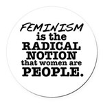 Feminism Radical Notion Round Car Magnet