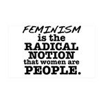 Feminism Radical Notion 35x21 Wall Decal
