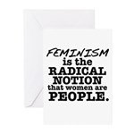 Feminism Radical Notion Greeting Cards (Pk of 20)