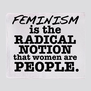 Feminism Radical Notion Throw Blanket