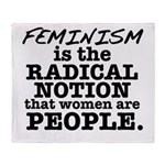 Feminism Radical Notion Throw Blanket