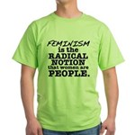 Feminism Radical Notion Green T-Shirt