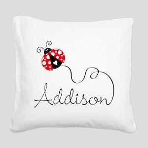 Ladybug Addison Square Canvas Pillow