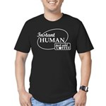 Instant Human, Add Coffee Men's Fitted T-Shirt (da