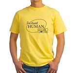 Instant Human, Add Coffee Yellow T-Shirt