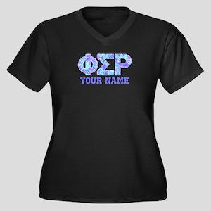 Phi Sigma Rh Women's Plus Size V-Neck Dark T-Shirt