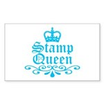 stamp_queen_blue Sticker (Rectangle 10 pk)