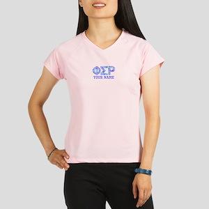 Phi Sigma Rho Floral Performance Dry T-Shirt