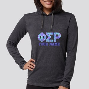 Phi Sigma Rho Floral Womens Hooded Shirt