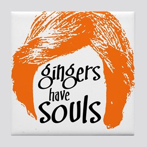 Gingers Have Souls Tile Coaster