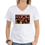 Art by Airbabies Women's V-Neck T-Shirt - Fab Five