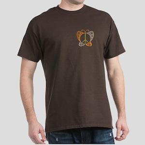 Peace Sign Butterfly Dark T-Shirt