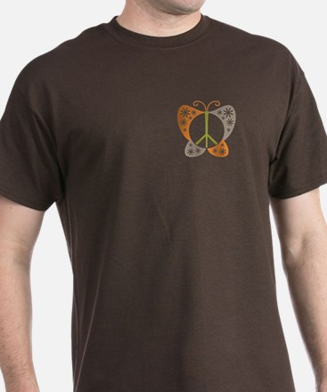 Peace Sign Butterfly T-Shirt