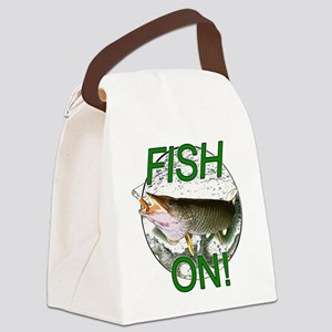 Musky fish on! Canvas Lunch Bag
