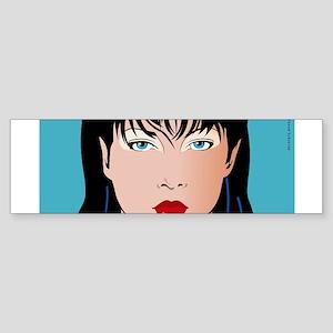 Pop Art Girl Amber Sticker (Bumper)
