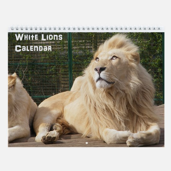 White Lions Wall Calendar