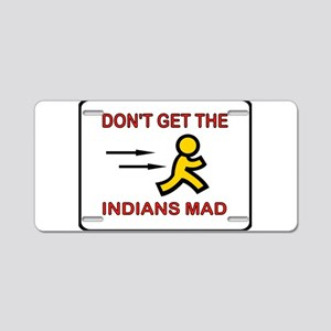 MAD INDIANS Aluminum License Plate