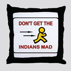 MAD INDIANS Throw Pillow