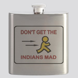 MAD INDIANS Flask