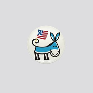 Democrat Donkey Mini Button