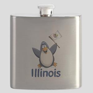 Illinois Penguin Flask