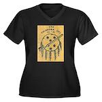 USS OKLAHOMA Women's Plus Size V-Neck Dark T-Shirt